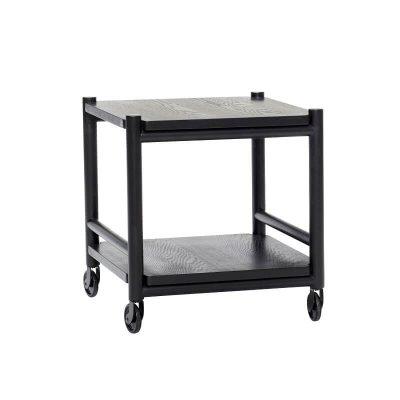 Hubsch Interior - Zwarte trolley van metaal met zwenkwielen - 021305