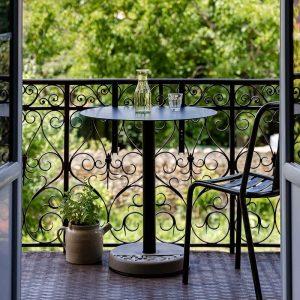 Lyon Béton DONUT - Ronde bistrotafel met één vlakke kant - 10102