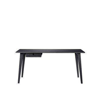 FDB Furniture - C67 BUTLER Zwart eiken bureau Large - 5700383386382