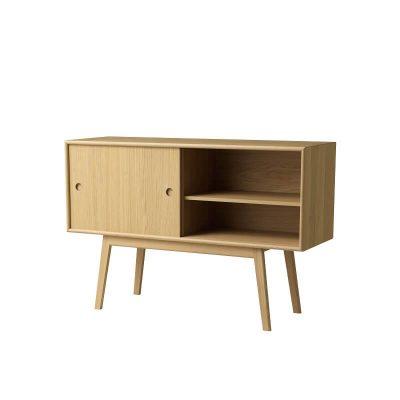 FDB Møbler - A83 BUTLER - FSC® eiken dressoir met schuifdeuren - Naturel