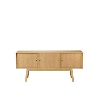FDB Møbler - A85 BUTLER - FSC® eiken dressoir met drie schuifdeuren - Naturel