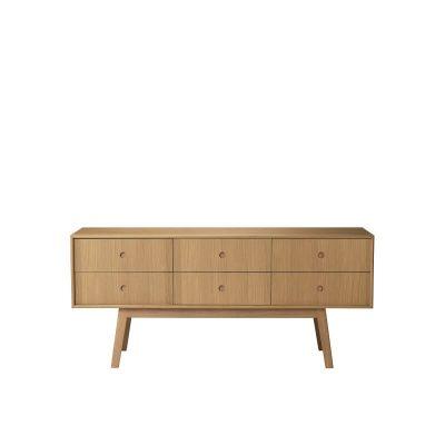 FDB Møbler - A86 BUTLER - FSC® eiken dressoir met lades - Naturel