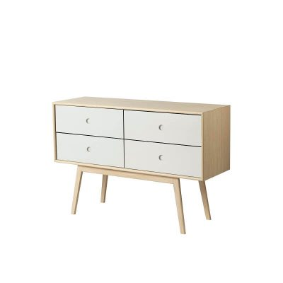 FDB Møbler - F22 BUTLER - FSC® eiken dressoir met vier lades - Naturel-Wit