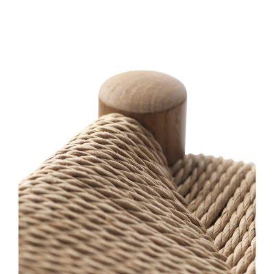 FDB Møbler - J164B - FSC® eiken barkruk met een gevlochten paper cord zitting