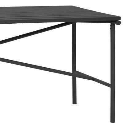 HUBSCH INTERIOR - Grote rechthoekige zwarte tuintafel van metaal - 991218