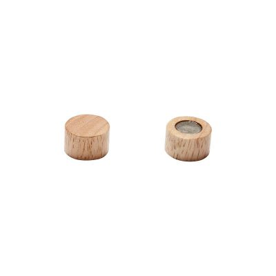 HUBSCH INTERIOR - Ronde houten magneet van rubberhout - 940616
