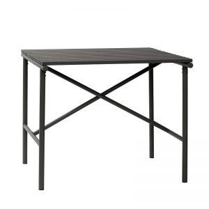 HUBSCH INTERIOR - Vierkante zwarte tuintafel van metaal - 991314
