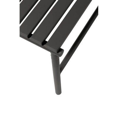 HUBSCH INTERIOR - Zwart metalen tuinbank zonder rugleuning - 991315