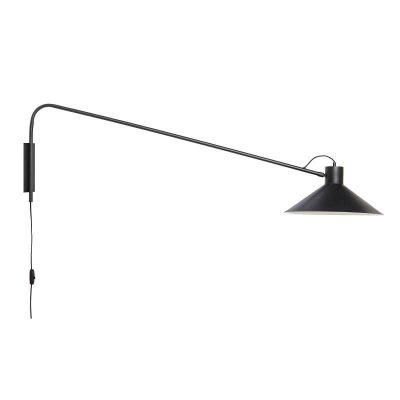 HUBSCH INTERIOR - Zwarte wandlamp van metaal, verstelbaar - 991302