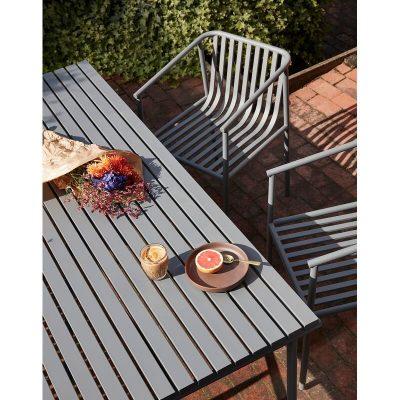 HUBSCH INTERIOR - Grijze tuinstoel, terrasstoel van metaal - 990942