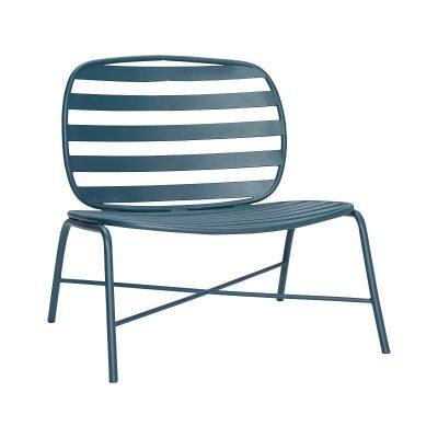 HÜBSCH INTERIOR - Groene loungestoel, terrasstoel van metaal - 990841