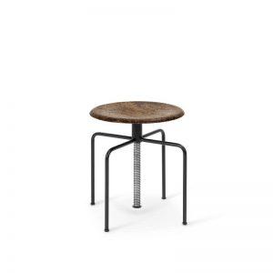 MATER Design MASK STOOL - Industriële opdraai kruk van metaal en gerecycled afval - 06050