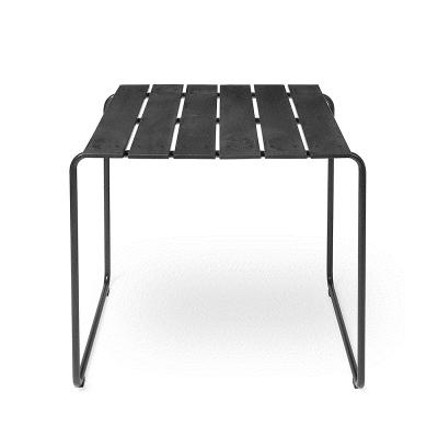 MATER Design OCEAN BENCH - Zwarte 2-persoons tuintafel van gerecyclede visnetten - 09311
