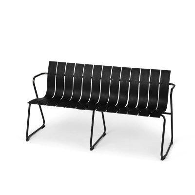 MATER Design OCEAN BENCH - Zwarte tuinbank van gerecyclede visnetten - 09351
