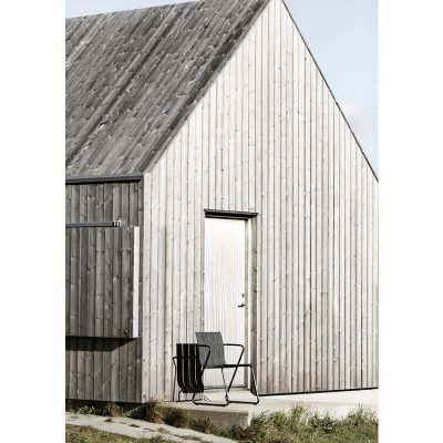 MATER Design OCEAN CHAIR - Zwarte tuinstoel van gerecyclede visnetten - 09301