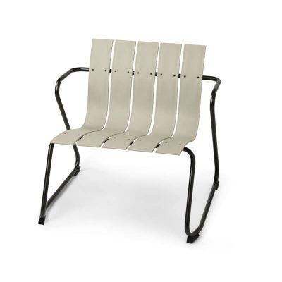 MATER Design OCEAN LOUNGE CHAIR - Zandkleur loungestoel van gerecyclede visnetten - 09333