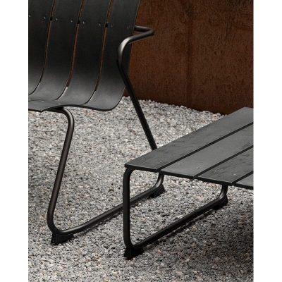 MATER Design OCEAN LOUNGE CHAIR - Zwarte loungestoel van gerecyclede visnetten - 09331