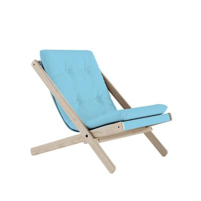 KARUP Design - BOOGIE RAW Loungestoel van naturel beuken FSC®- 744 Lichtblauw