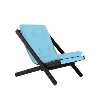 KARUP Design - BOOGIE Zwarte loungestoel van beuken FSC - 744 - Lichtblauw