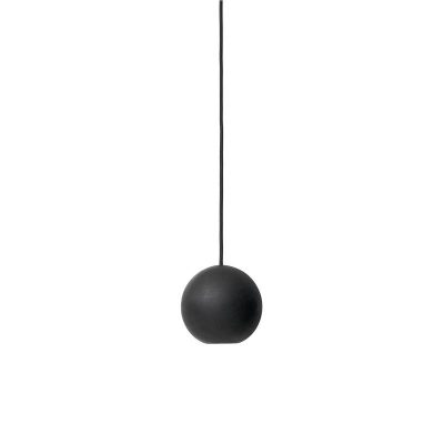 Mater Design LIUKU - BASE BALL hanglamp van zwart hout -02903
