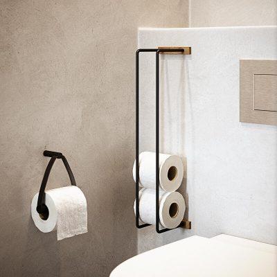 By WIRTH BATHROOM RACK - WC rolhouder of handdoekenrek