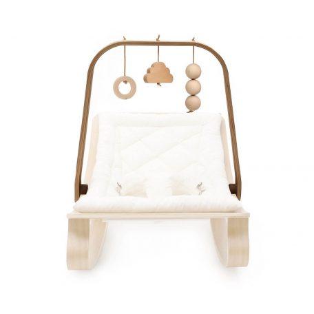 CHARLIE CRANE - Walnoot houten baby mobiel tbv het LEVO walnoothouten wipstoeltje