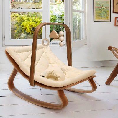 houten baby mobiel
