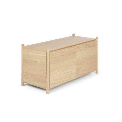 GEJST SCEENE G - Naturel eiken Wandkast Boekenrek TV-meubel