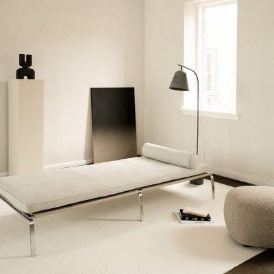 NORR11 - MAN Daybed - Daybed bekleed met Nubuck leer - Royal Nubuck Light Grey