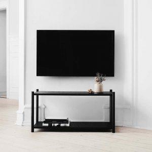 GEJST SCEENE F - Zwart eiken Wandkast Boekenrek TV-meubel