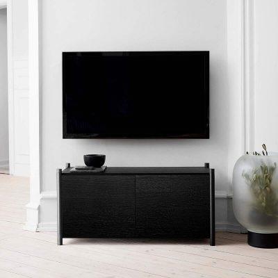 GEJST SCEENE G - Zwart eiken Wandkast Boekenrek TV-meubel