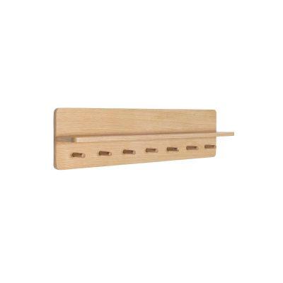 HUBSCH INTERIOR - FSC® eiken wandkapstok met 7 haakjes en plank - 881403