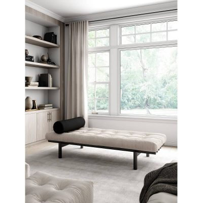 KARUP DESIGN - Next Daybed chaise longue 102 Zwart - 510 Ivory