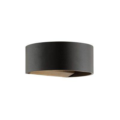 DYBERG LARSEN - CIRCLE OUTDOOR zwarte wandlamp van metaal - 5704709011118