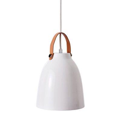 DYBERG LARSEN - COPENHAGEN hoogglans witte hanglamp van metaal - 7028