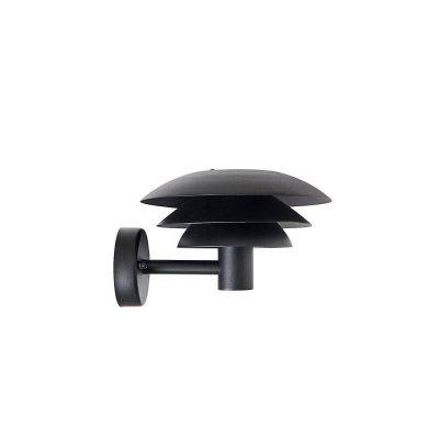 DYBERG LARSEN - DL20 OUTDOOR zwarte wandlamp voor buiten in RVS d20 - 1020