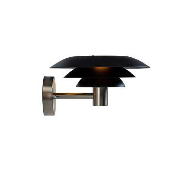 DYBERG LARSEN - DL25 OUTDOOR buiten wandlamp Zwart-RVS - 1027
