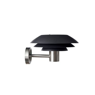 DYBERG LARSEN - DL31 OUTDOOR zwarte wandlamp voor buiten in RVS - 1032
