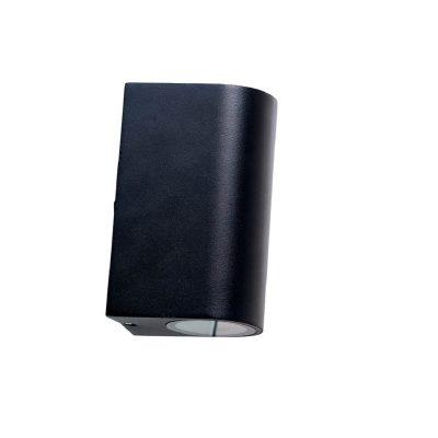 DYBERG LARSEN - LÆSØ OUTDOOR zwarte wandlamp van metaal - 5704709010012