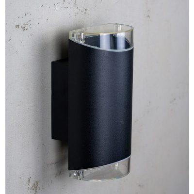DYBERG LARSEN - RIBE OUTDOOR zwarte wandlamp UP-DOWN - 1007
