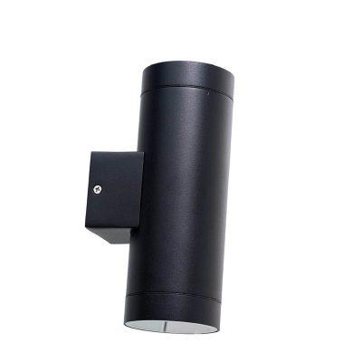 DYBERG LARSEN - STEGE OUTDOOR zwart wandlampje van aluminium UP-DOWN - 1005