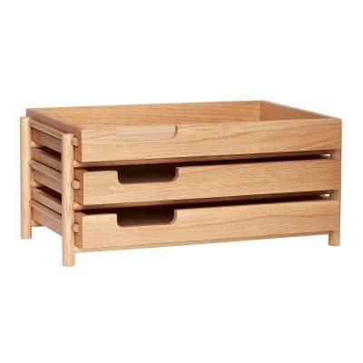 HUBSCH INTERIOR - FSC® eiken houten brievenbakje - 881203