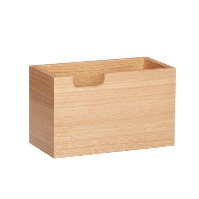 HÜBSCH INTERIOR - FSC® eiken houten pennenbakje - 881206
