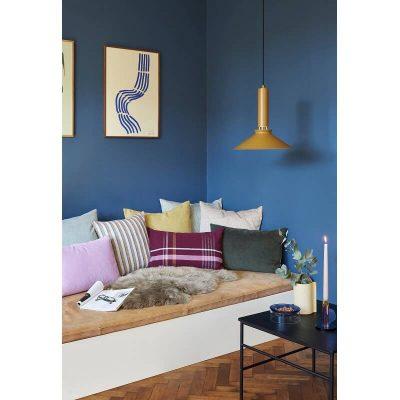HUBSCH INTERIOR - Zwarte vierkante salontafel met essenhouten blad - 021302
