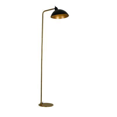 DYBERG LARSEN - FUTURA vloerlamp zwart-messing - 7221