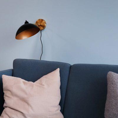 DYBERG LARSEN - FUTURA wandlamp zwart-messing - 7222