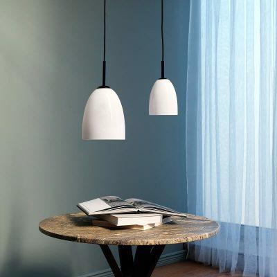 DYBERG LARSEN - JAZZ Hanglamp matzwart en melkglas SMALL - 7303