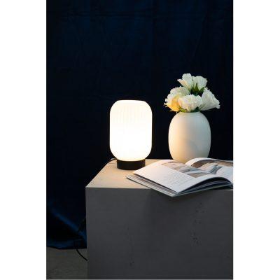 DYBERG LARSEN - RIFLET Tafellamp van melkglas h23cm - 7107