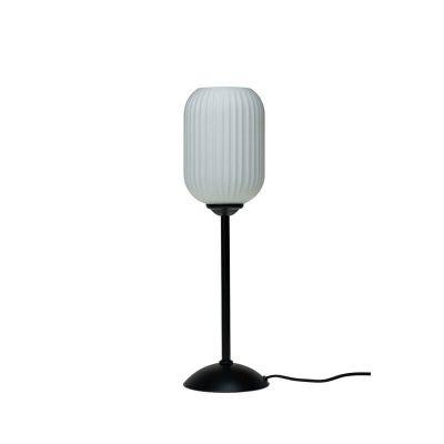 DYBERG LARSEN - RIFLET Tafellamp van melkglas h52cm - 7103
